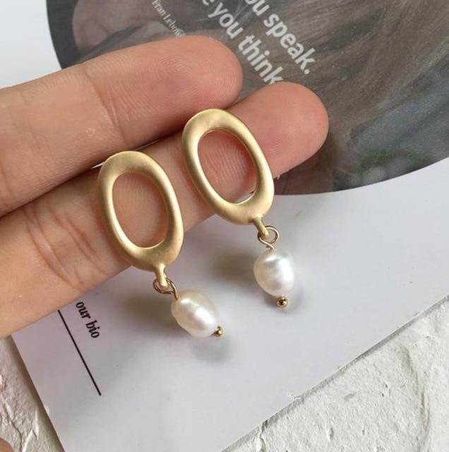 Náušnice s perlou (B)