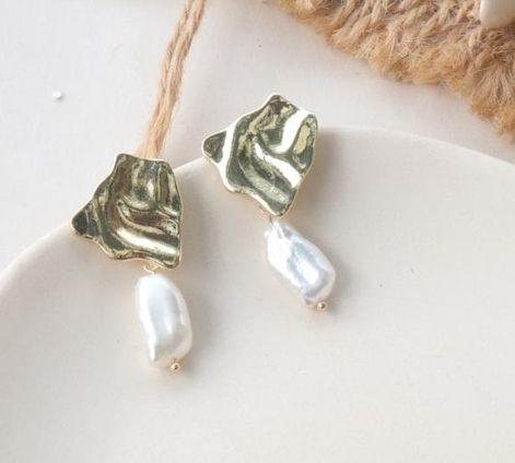 Náušnice s perlou (G)