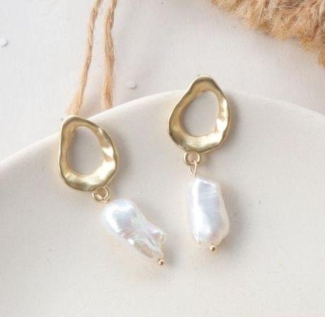 Náušnice s perlou (F2)