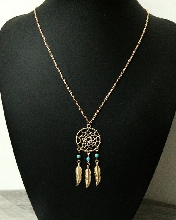 Vintage náhrdelník lapač snů