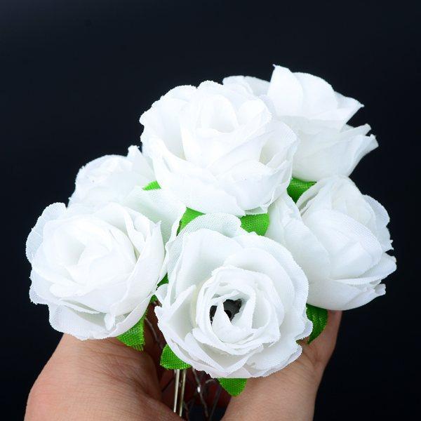 Nádherná jehlice do vlasů. Bílá růže