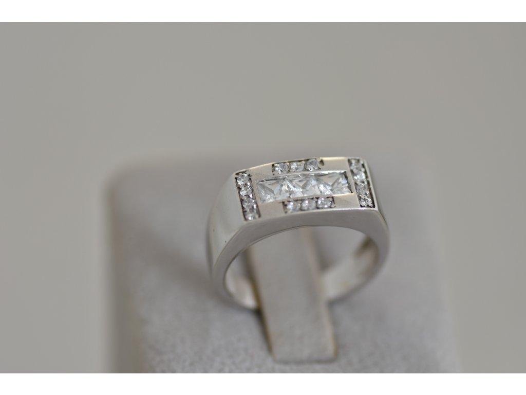 Prsten z bílého zlata Sia 1