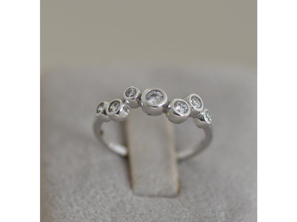 Prsten z bílého zlata Sia 2