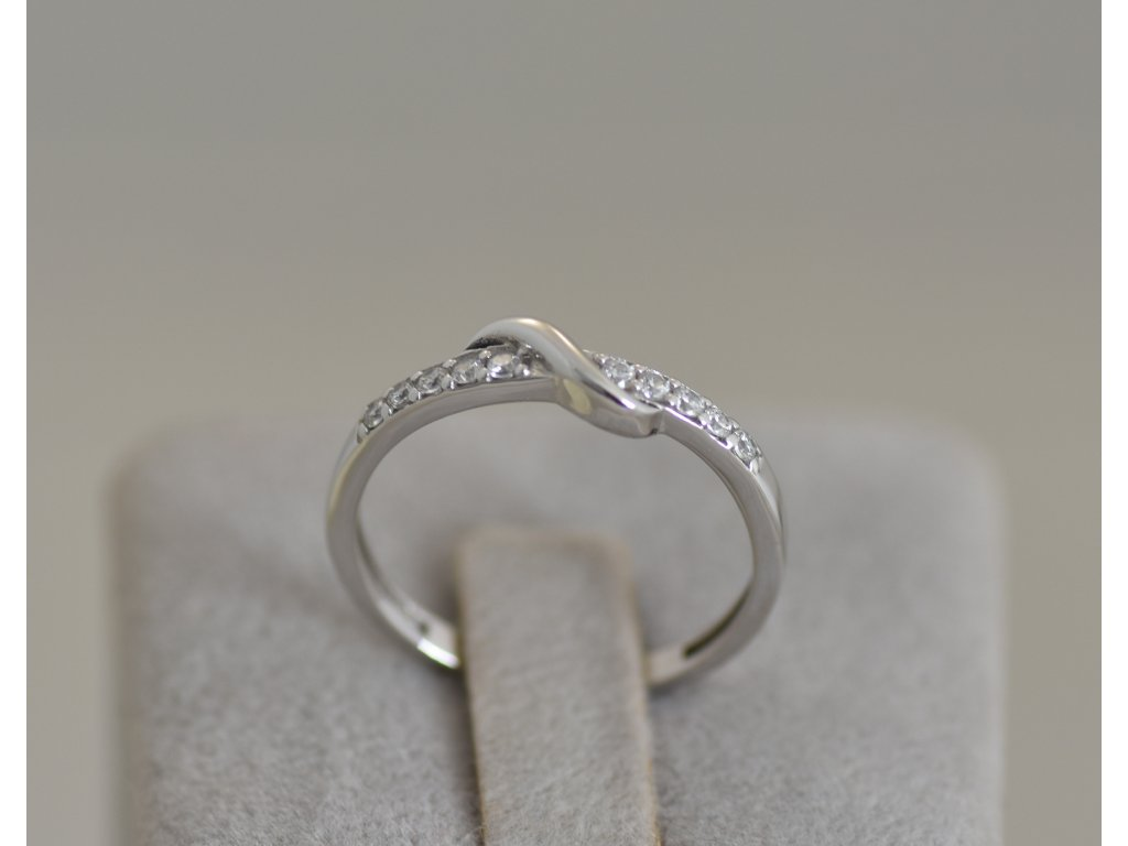 Prsten z bílého zlata Sia 4
