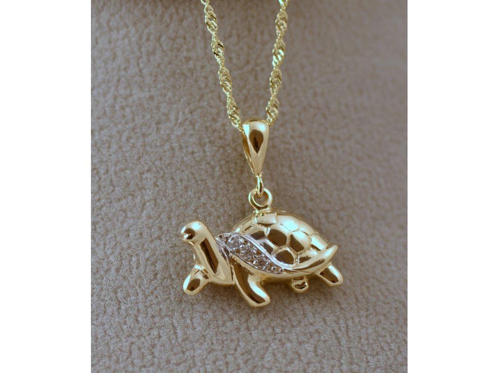 Zlatý přívěsek želvička Klára