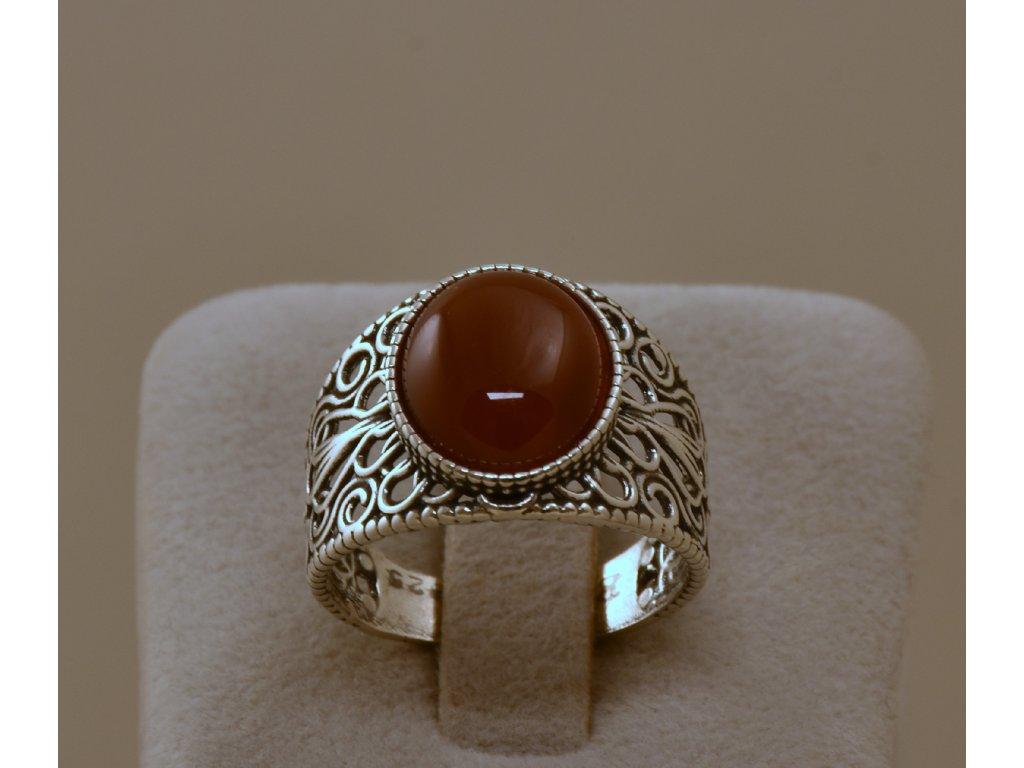 Stříbrný prsten Carela