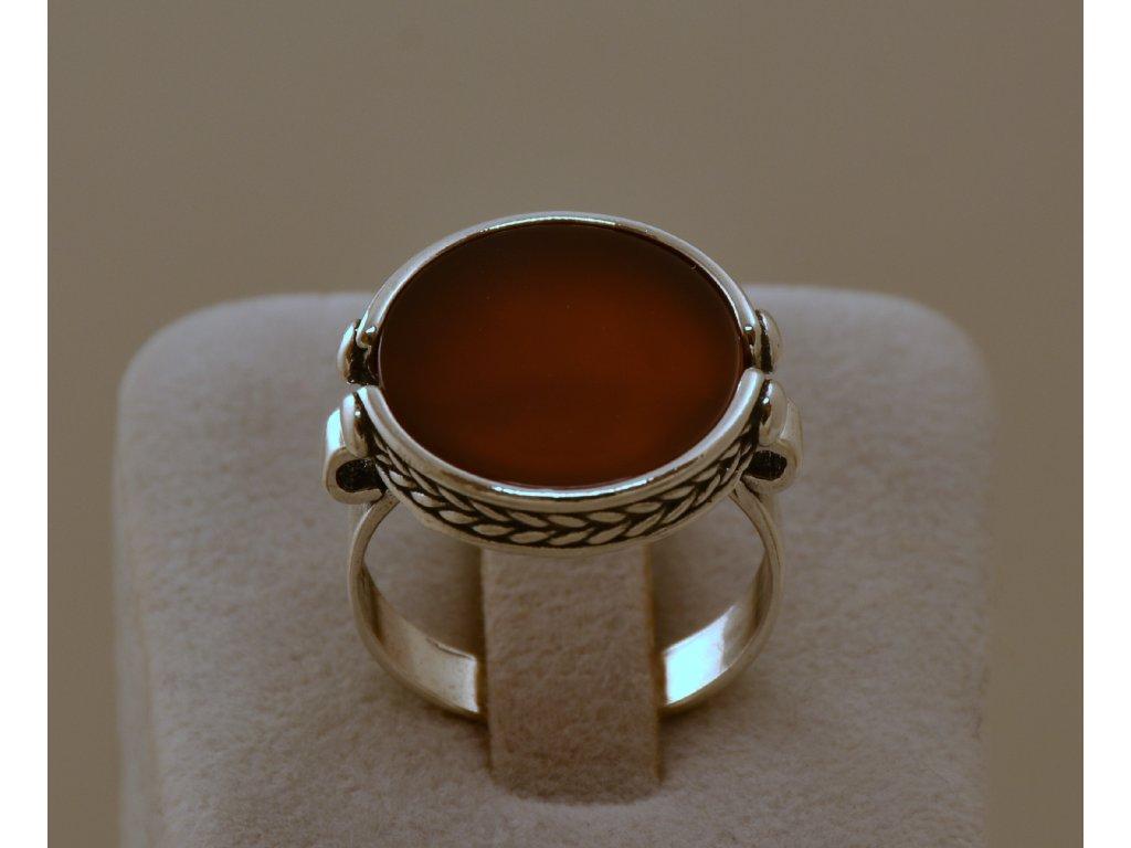 Stříbrný prsten Nala Carnelia