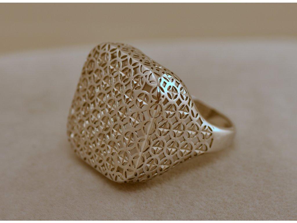 Stříbrný prsten Lionel