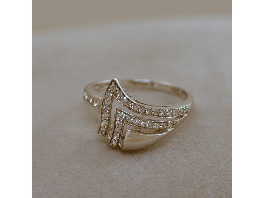 Stříbrný prsten Eva