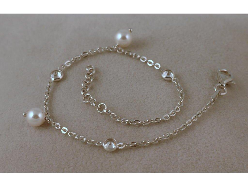 Stříbrný náramek Paola 1