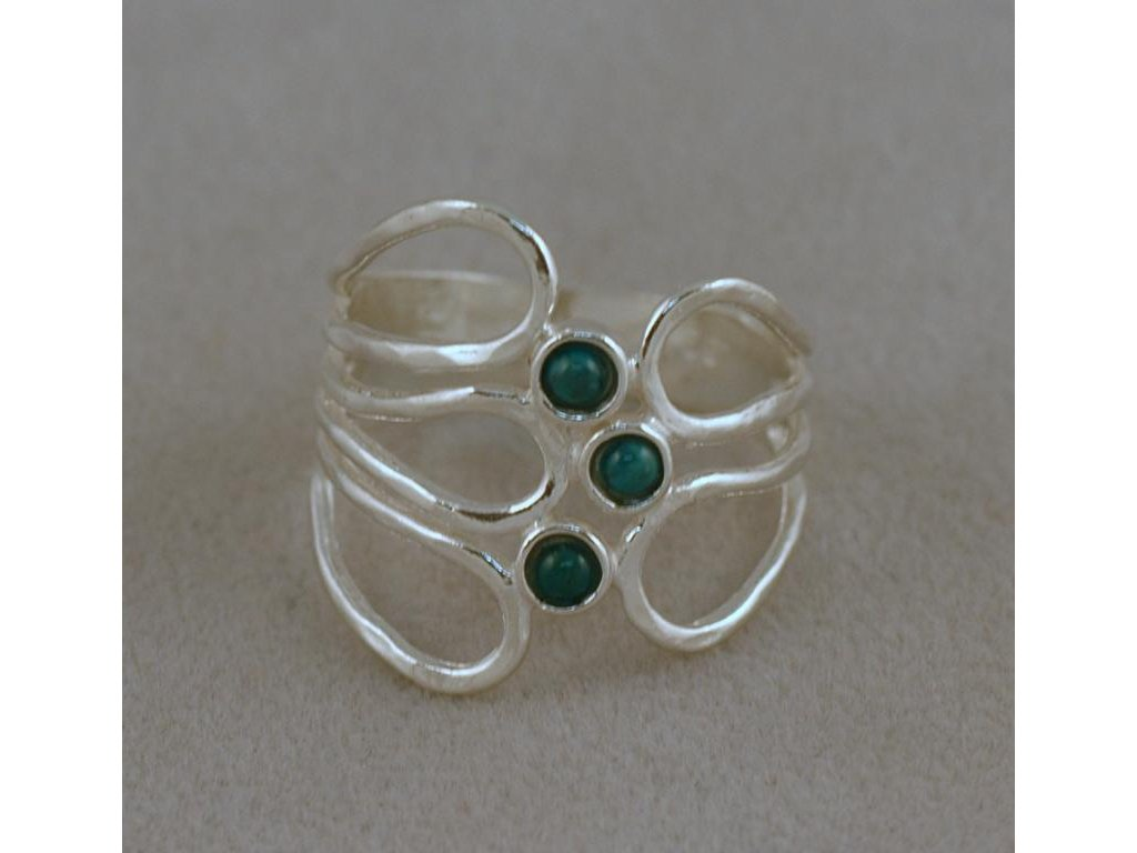 Stříbrný prsten Atila