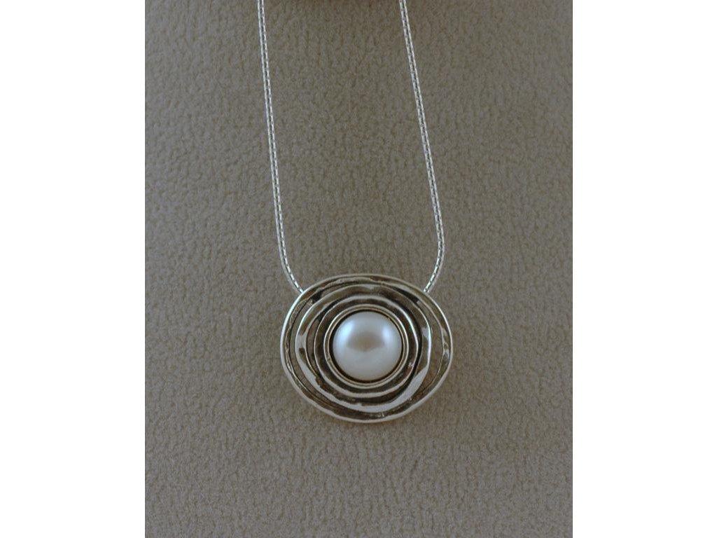 Stříbrný náhrdelník Flavie