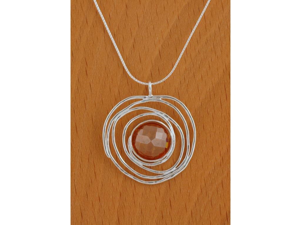 Stříbrný náhrdelník Izolda