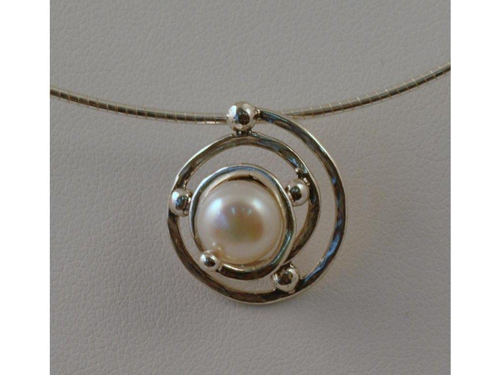 Stříbrný náhrdelník Violeta