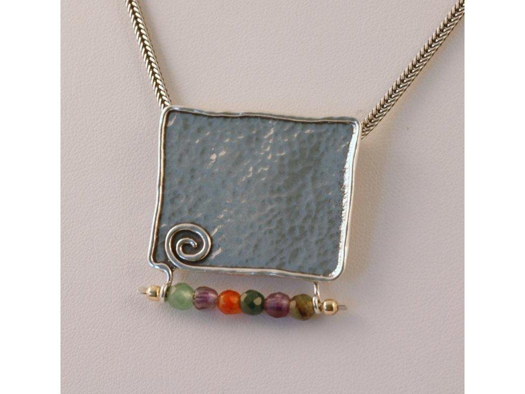 Stříbrný náhrdelník Ezra