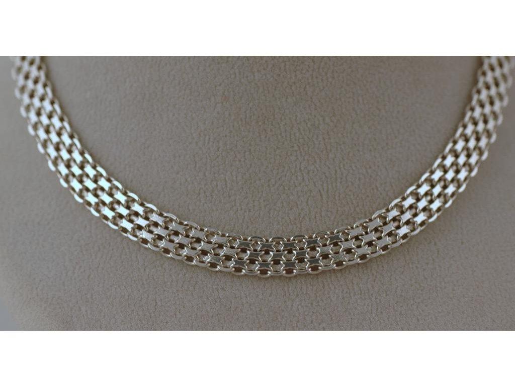 Stříbrný náhrdelník Alex