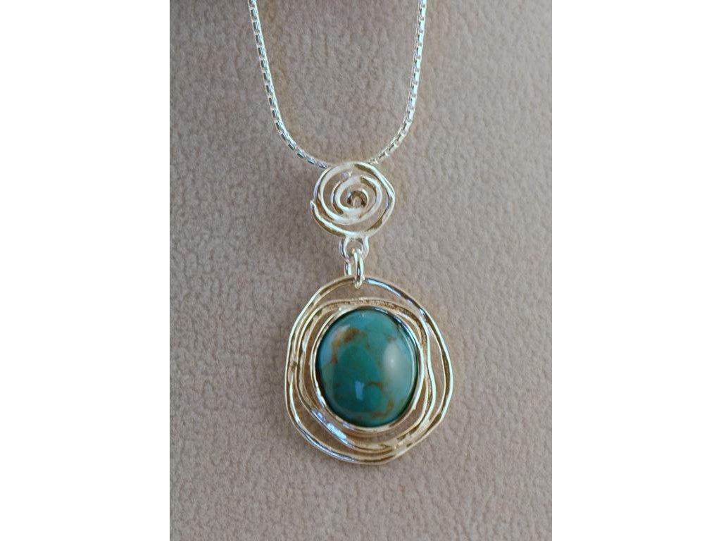 Stříbrný náhrdelník Hela