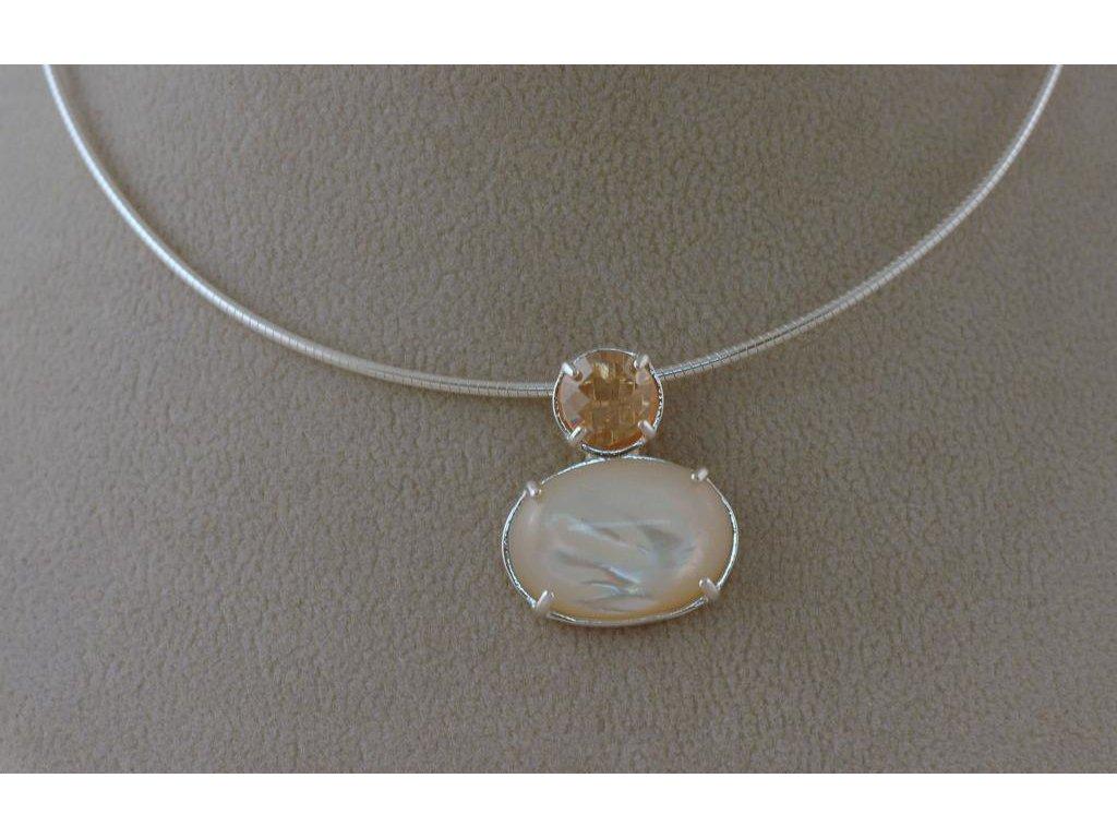 Stříbrný náhrdelník Nelis