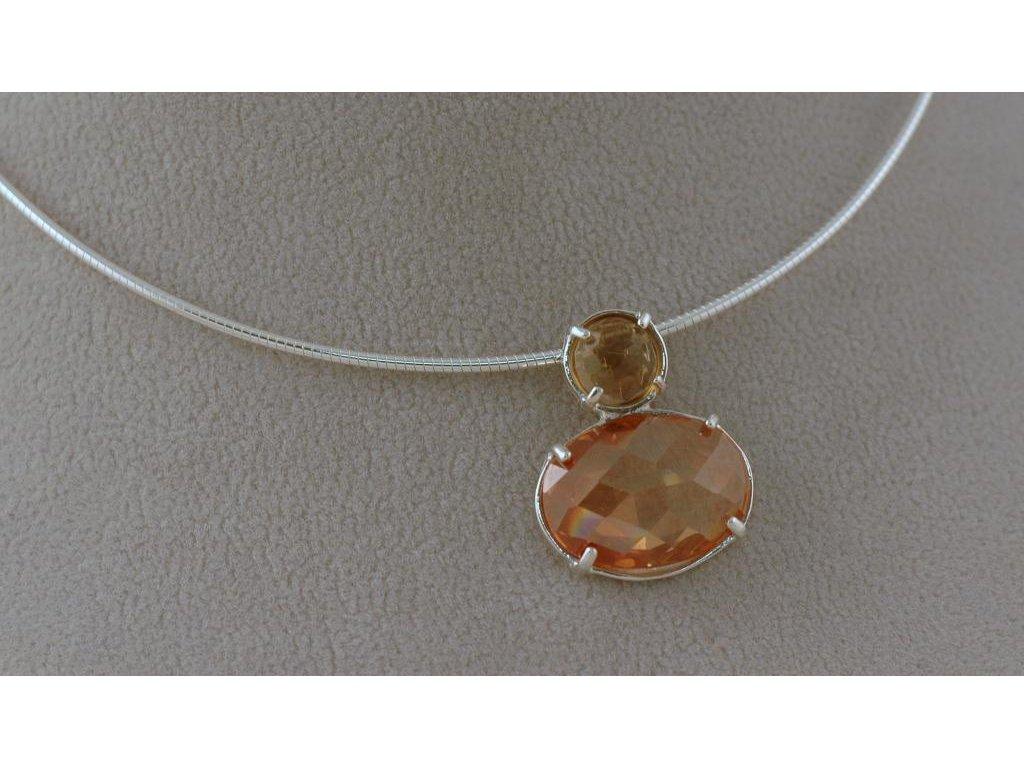 Stříbrný náhrdelník Charlie