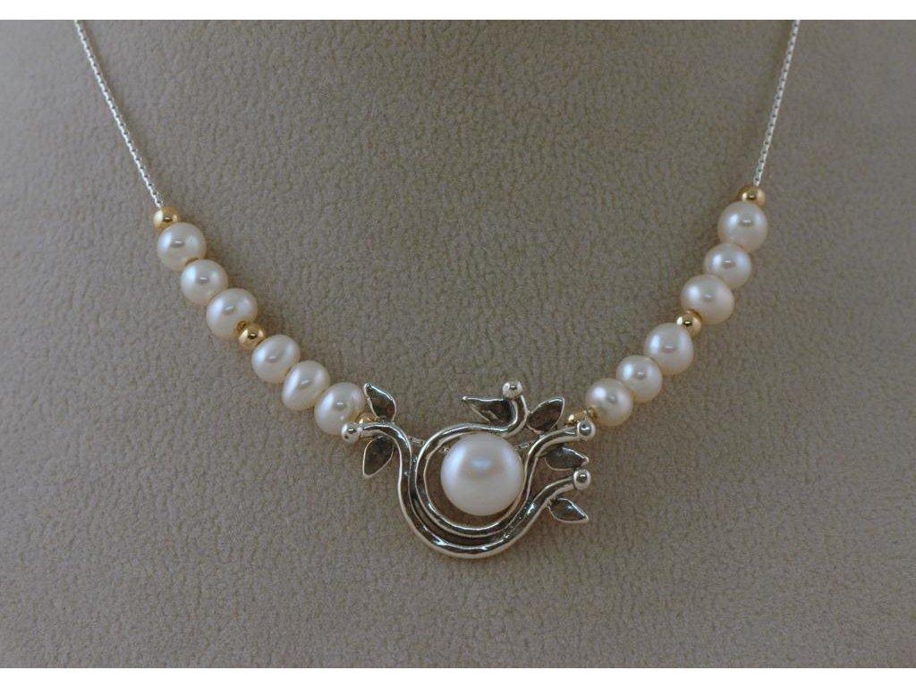 Stříbrný náhrdelník Liliam