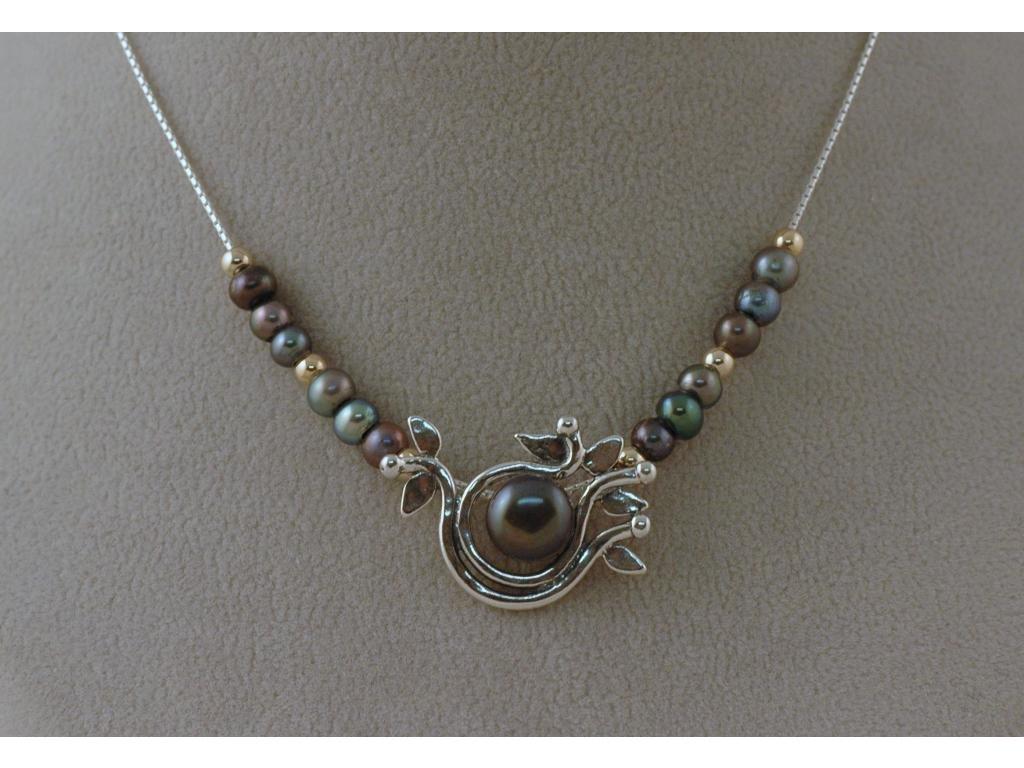 Stříbrný náhrdelník Atila