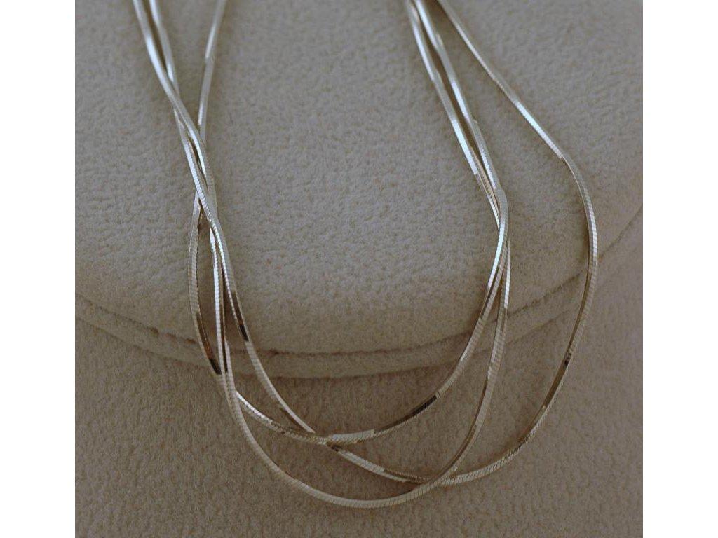 Stříbrný řetízek Leon 012