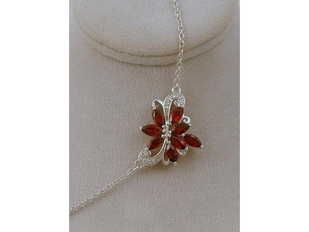 Stříbrný náhrdelník Nelia