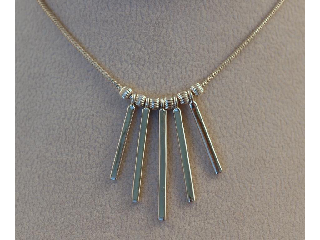 Stříbrný náhrdelník Claudia