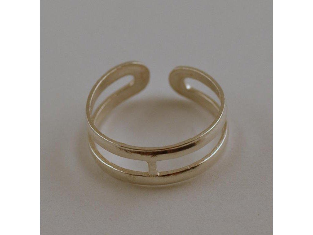 Stříbrný prsten na nohu Ali 002