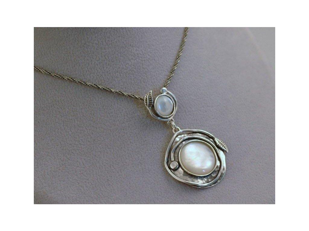 Stříbrný náhrdelník Nubian