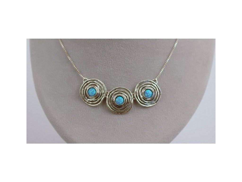 Stříbrný náhrdelník Olívie