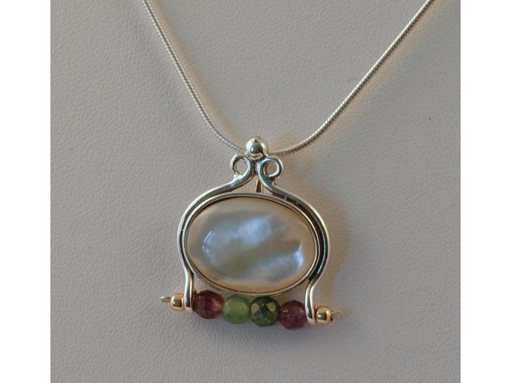 Stříbrný náhrdelník Fiona