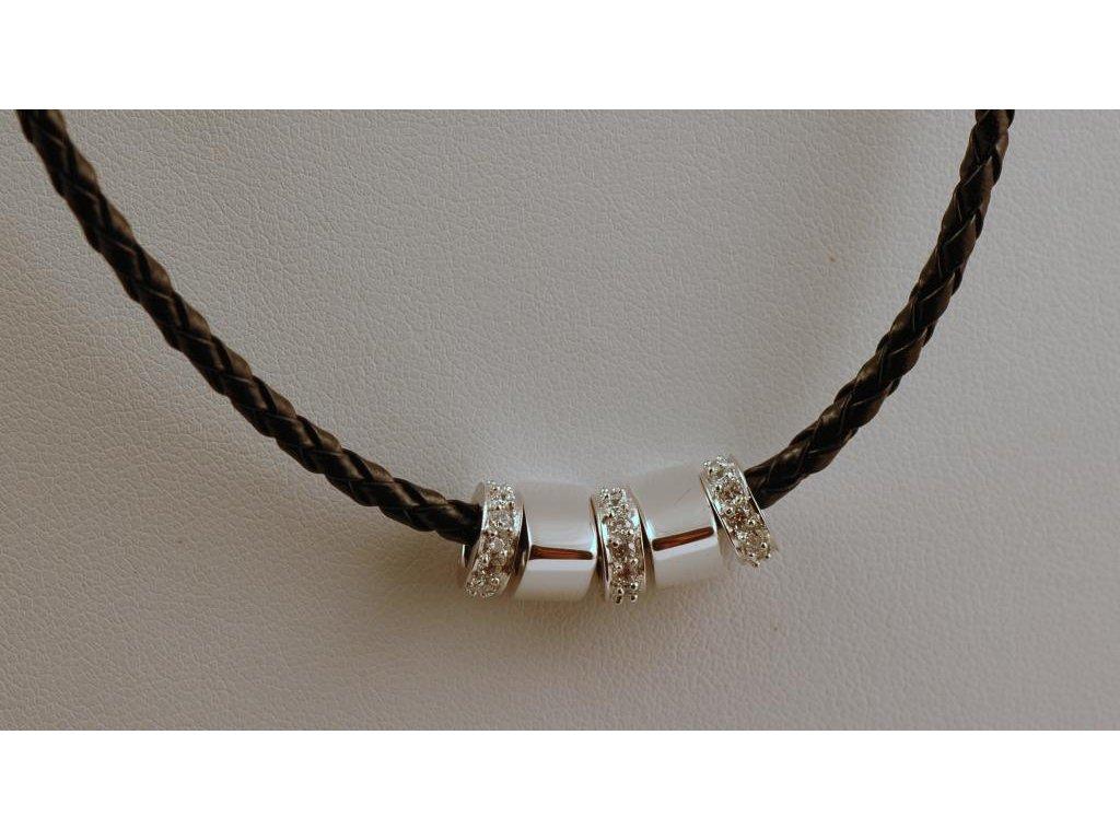 Stříbrný náhrdelník Ambra