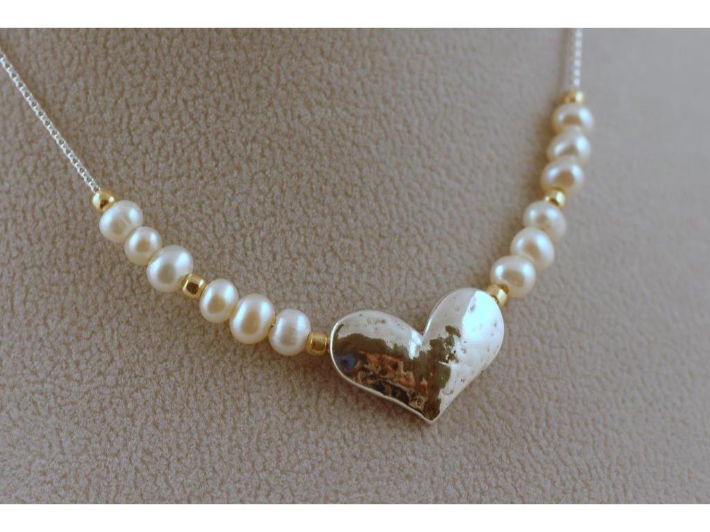 Stříbrný náhrdelník Melisa