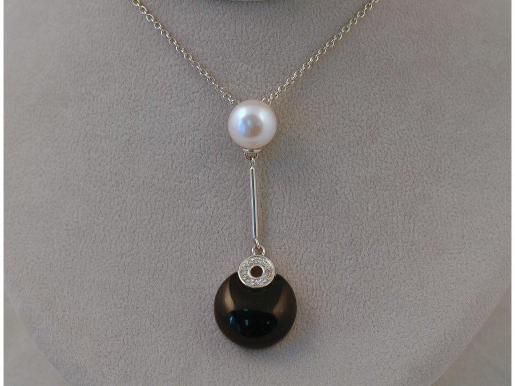 Stříbrný náhrdelník Livie