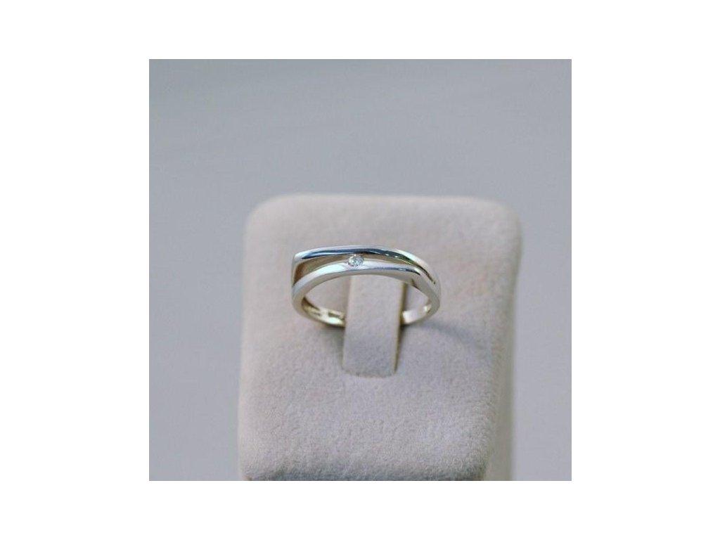 Prsten z bílého zlata Vincenc