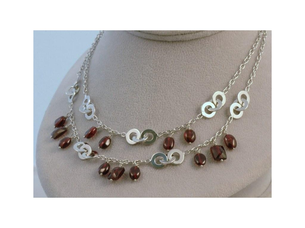 Stříbrný náhrdelník Miriam
