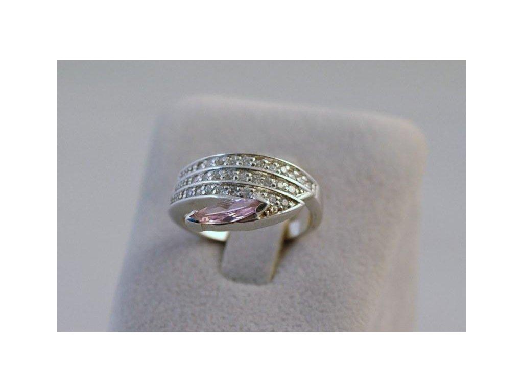 Stříbrný prsten Rosa