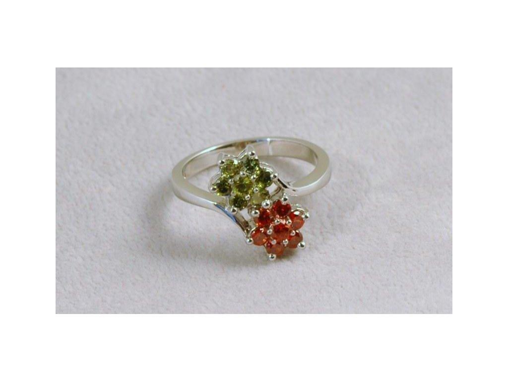Stříbrný prsten Evita