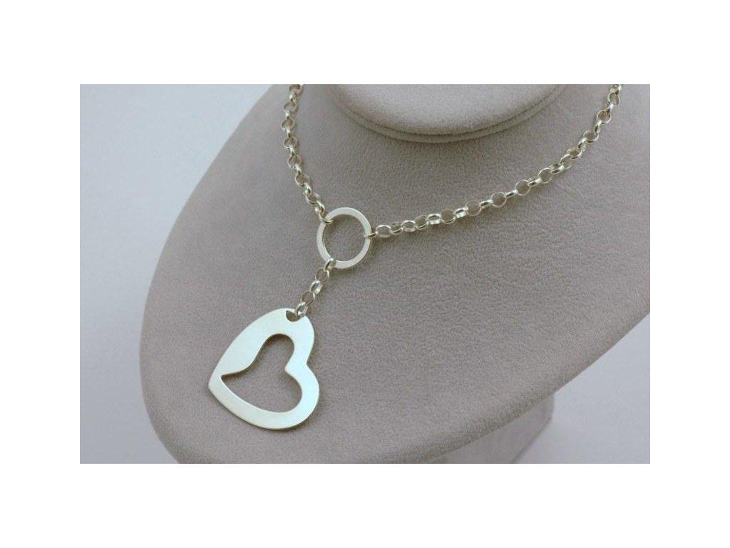 Stříbrný náhrdelník Salea