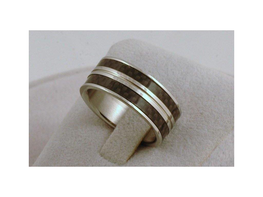 Prsten z chirurgické oceli Caro