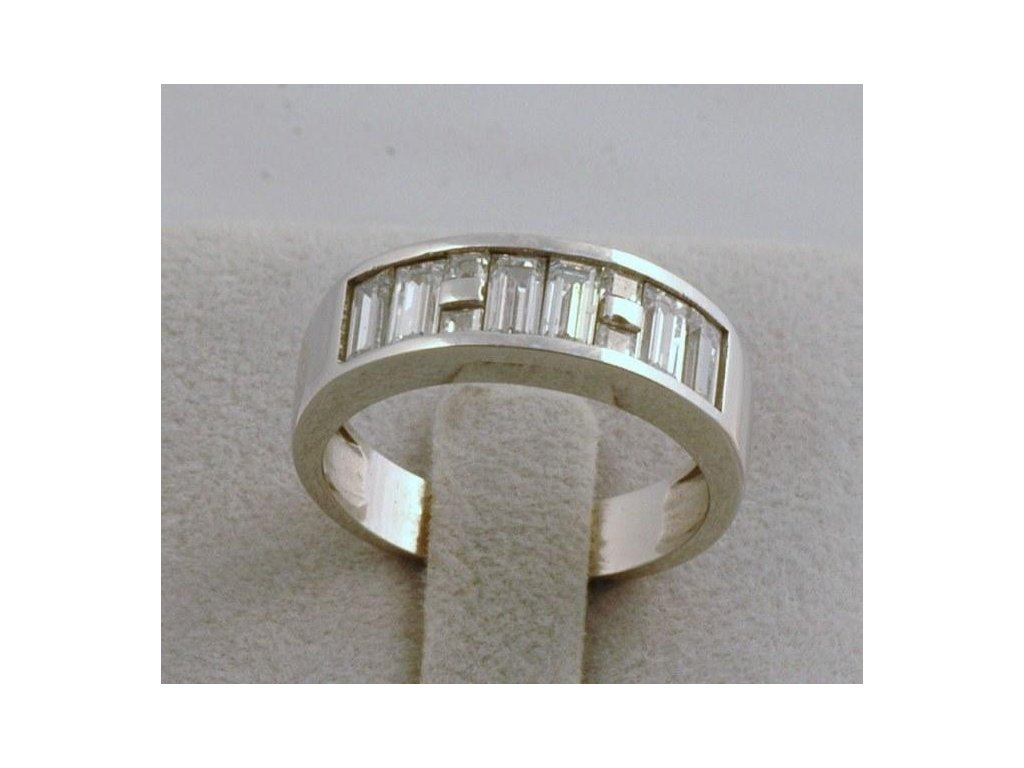 Prsten z bílého zlata Morice