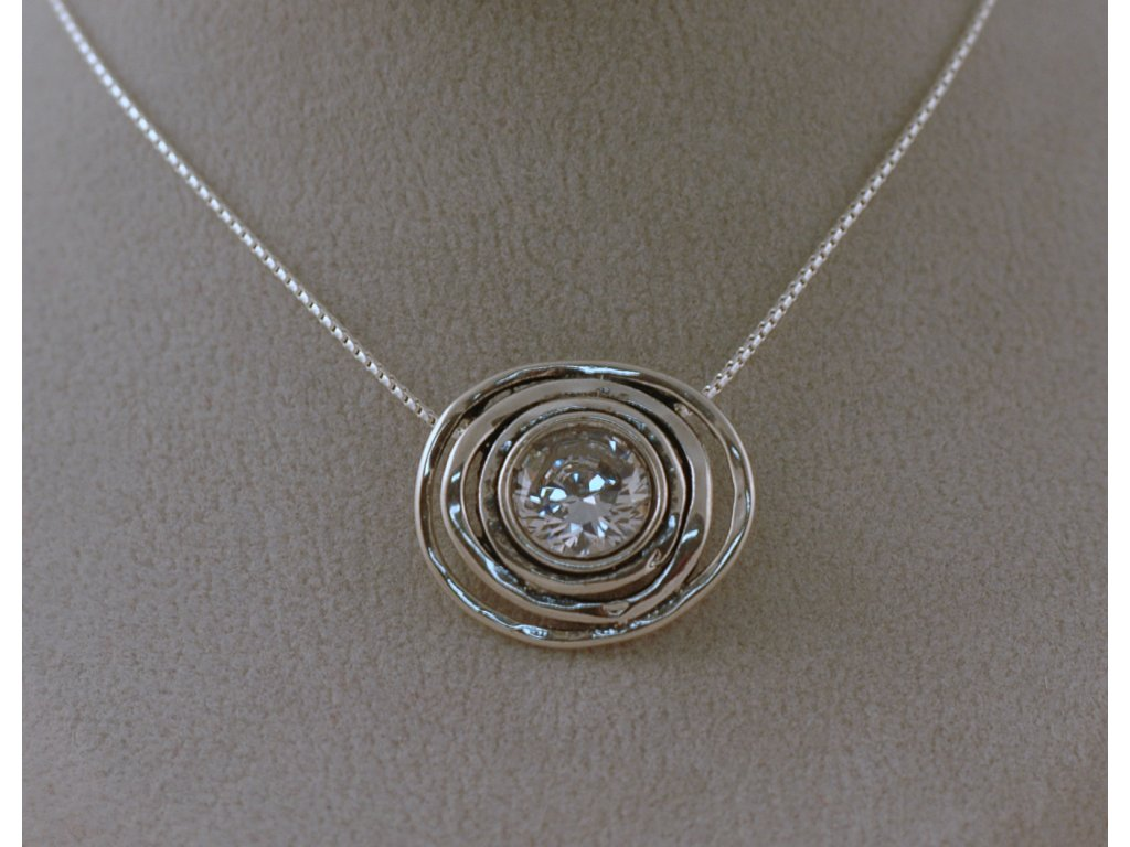 Stříbrný náhrdelník Celina