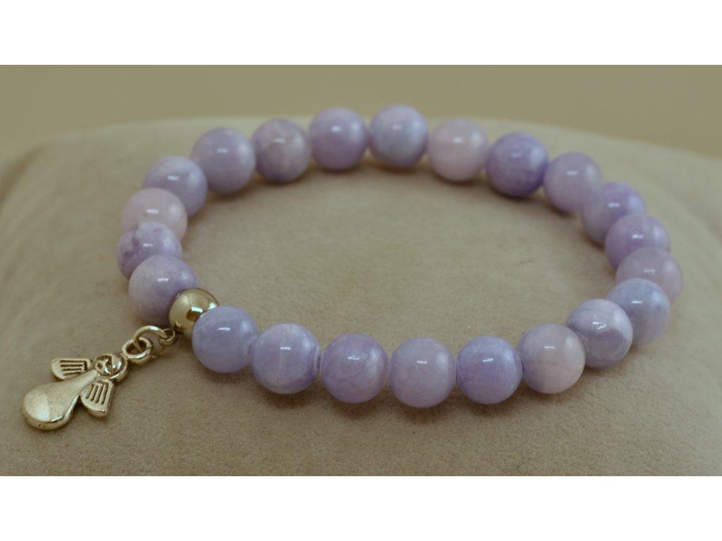 Náramek z přírodních kamenů jaspis fialový