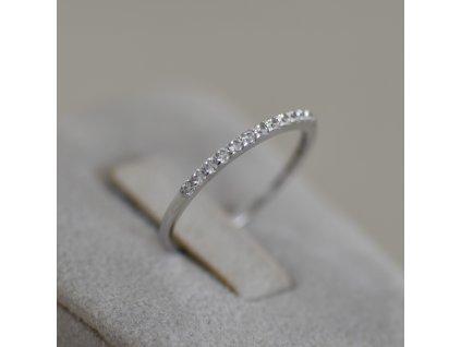 Prsten z bílého zlata Lucie 2