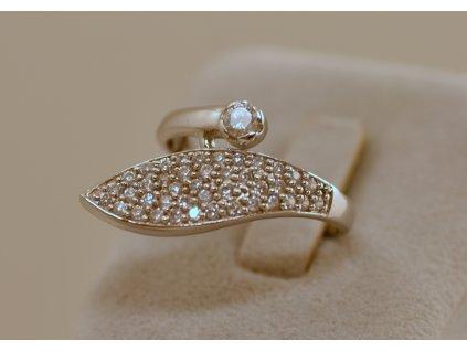Stříbrný prsten Mabel
