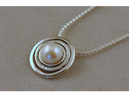 Stříbrný náhrdelník Eugenie