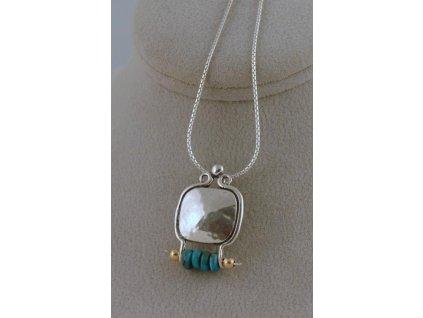 Stříbrný náhrdelník Geraldina