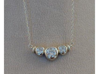 Stříbrný náhrdelník Jenis