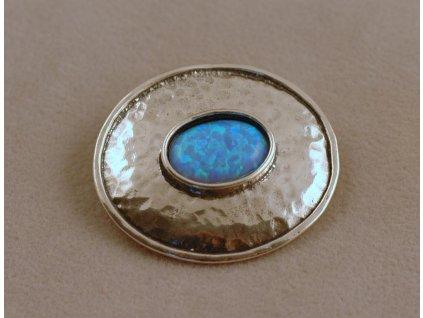 Stříbrná brož Olívie